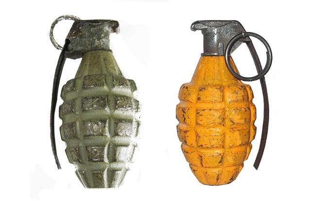 L'ARMEMENT DE LA 4th INFANTRY DIVISION : LES GRENADES A FRAGMENTATION Mark II & Mark IIA1 29766e11