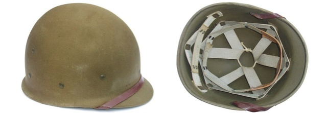 L'UNIFORME DE LA 4th INFANTRY DIVISION : LE CASQUE M1 Liner_10