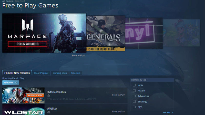 3 places where you can get FREE GAMES. Steam10