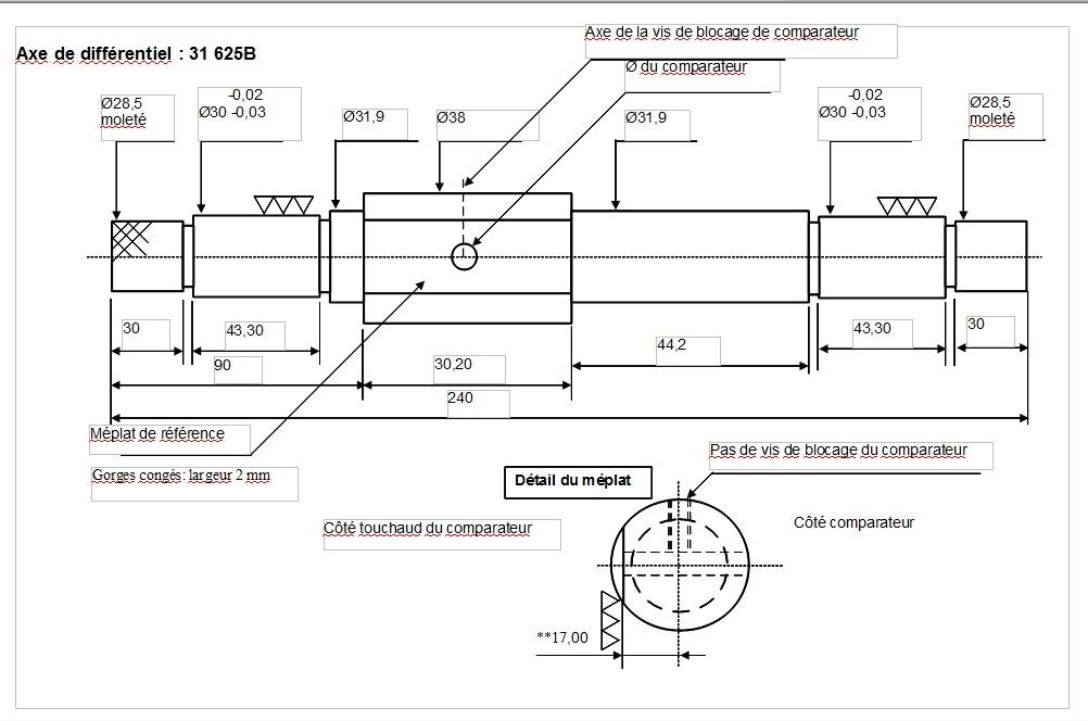 Les calibres pour régler la profondeur du pignon d'attaque Boite_10