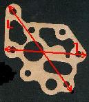 côte, diamètre, et forme des joints de pompes à huile a imprimer Phl110
