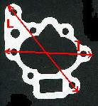 côte, diamètre, et forme des joints de pompes à huile a imprimer Phl210