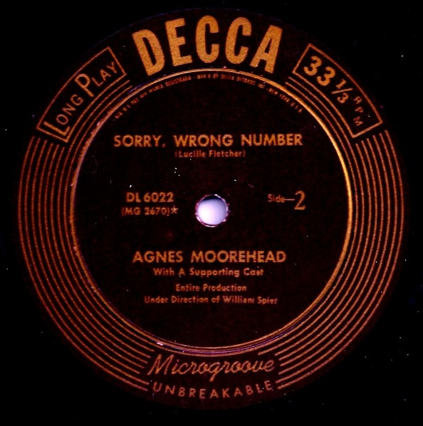 Sorry, Wrong Number - 1947 Decca Record Version Decca_12