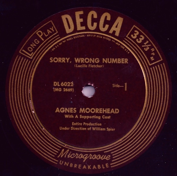 Sorry, Wrong Number - 1947 Decca Record Version Decca_14