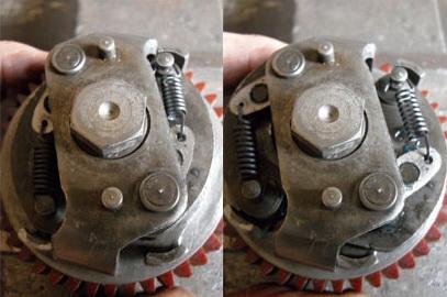 Réfection d'un pignon d'avance automatique BSA A7 Av-1310