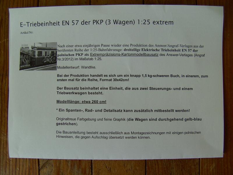 Fertig - Dreiteilige elektrische Triebeinheit - EN 57 gebaut von Holzkopf Bild1138