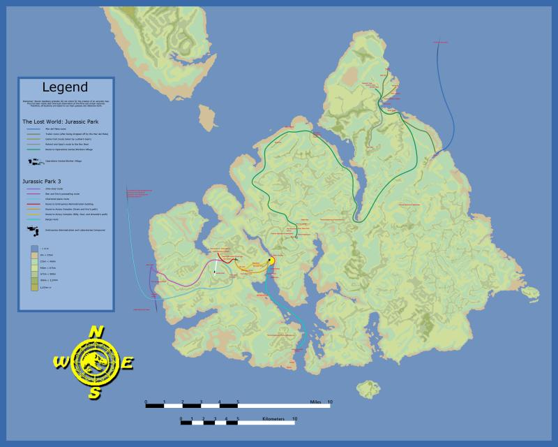 Isla Sorna and Isla Nublar Maps Sorna10