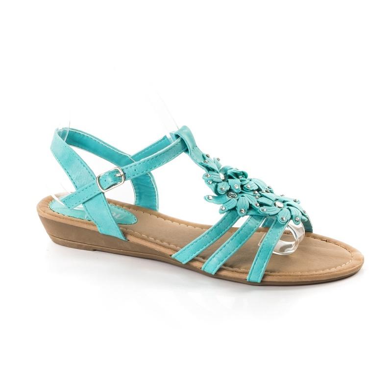 Sandale dama Deepali turcoaz cu platforma ortopedica Sandal12