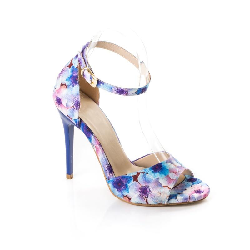 Sandale dama Odalys albastre cu toc inalt Sandal14