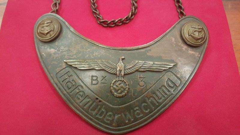 """Plaque tour de col """"kriegsmarine"""" 13329710"""
