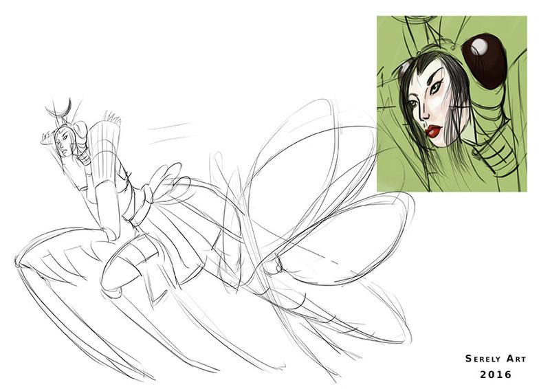 SUMMER CHALLENGE : la création d'un personnage mi homme/femme, mi animal - Page 2 Homani19