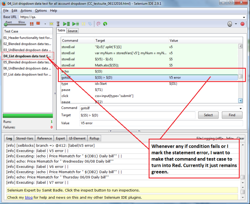 How can change the color font for log and test case section in Selenium IDE? Seleni10