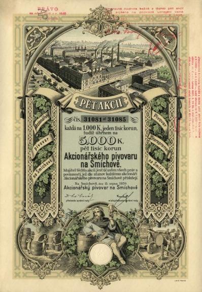 Plomb de scelle de l'actionnariat  de la brasserie de Smíchov. 11400_10