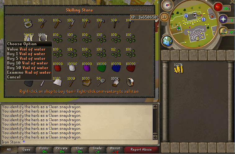 Lazy Storm's 1-99 Farming/Herblore Guide Buying10