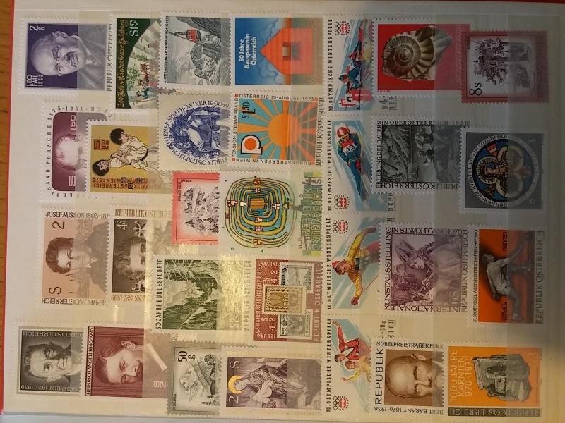 Briefmarkensammlung Östereich 20160611