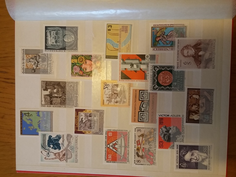 Briefmarkensammlung Östereich 20160615