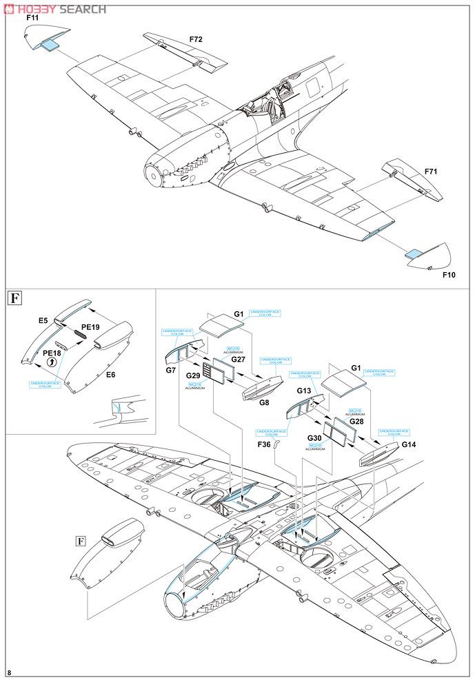 Supermirine Spitfire MK IX C 1/48 Eduard 10222222