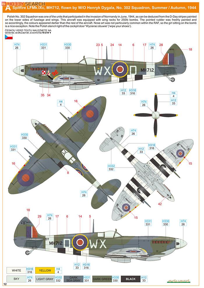 Supermirine Spitfire MK IX C 1/48 Eduard 10222224