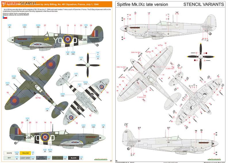 Supermirine Spitfire MK IX C 1/48 Eduard 10222228