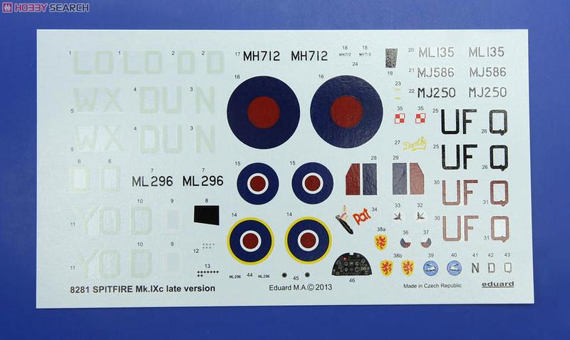 Supermirine Spitfire MK IX C 1/48 Eduard 10222230