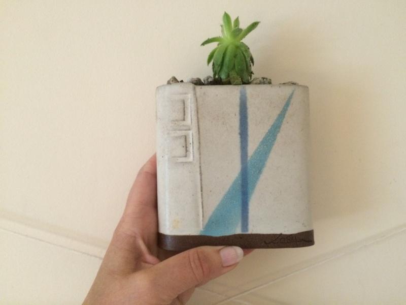 Scandi looking rectangular slab vase Img_0514