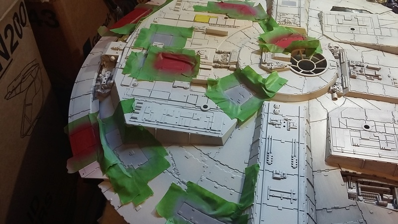 LrdSatyr's DeAgostini Millenium Falcon Diorama Build - Page 8 Painti10