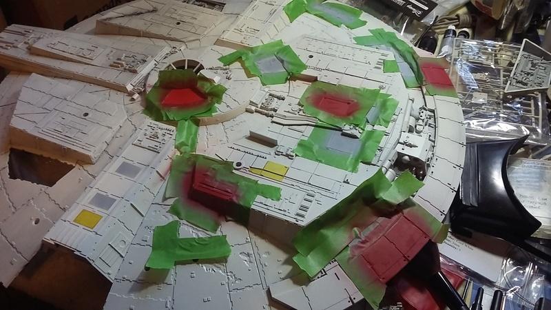 LrdSatyr's DeAgostini Millenium Falcon Diorama Build - Page 8 Painti11