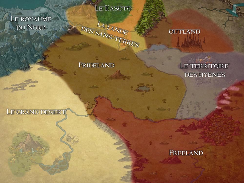 ENCYCLO - Carte de la Terre des Lions Maptlk12