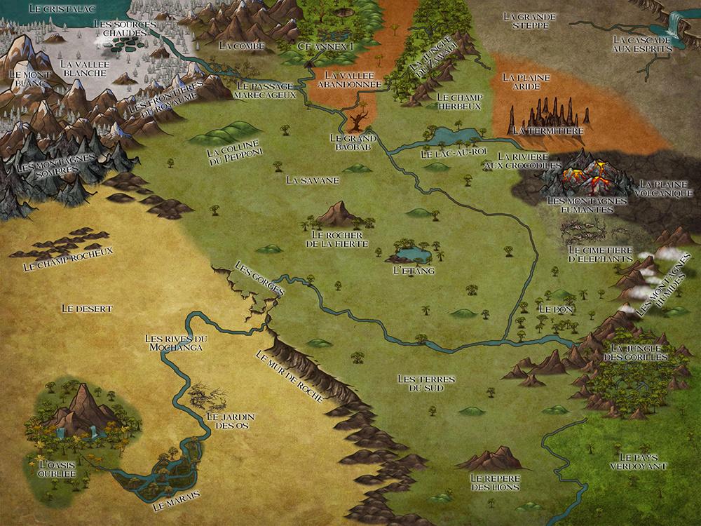ENCYCLO - Carte de la Terre des Lions Maptlk13