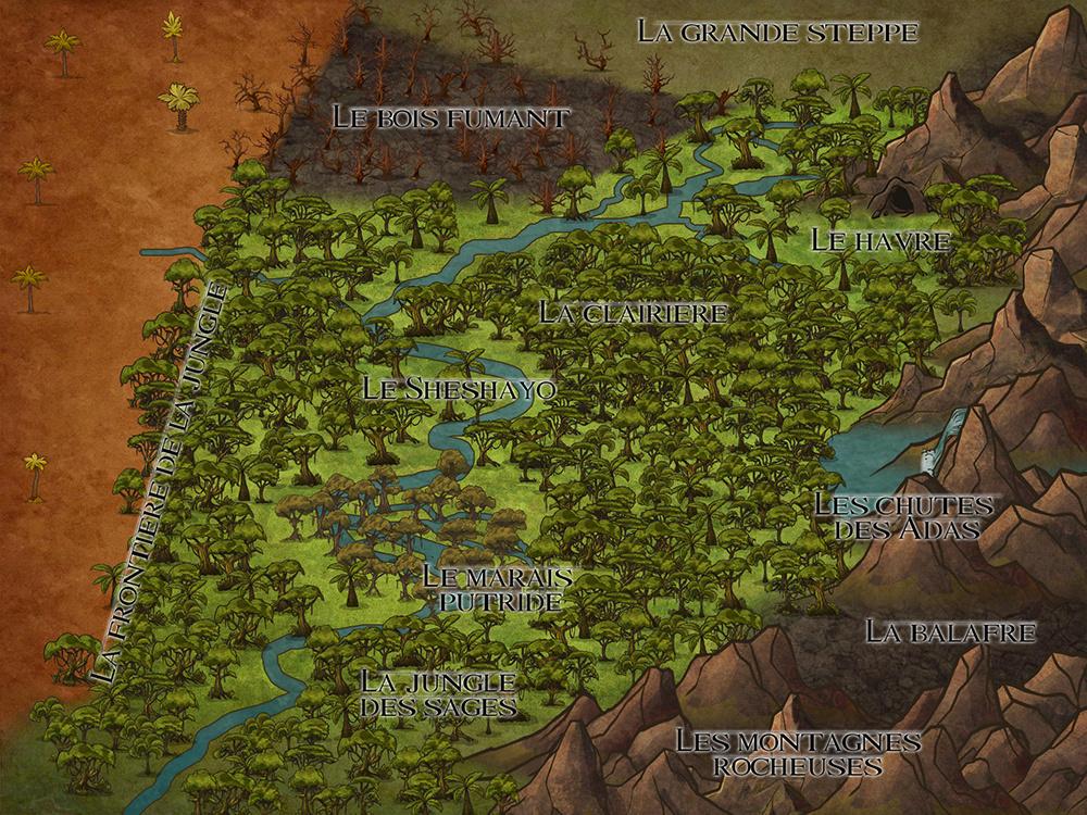 ENCYCLO - Carte de la Terre des Lions Maptlk14
