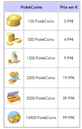 04/ Pokémon GO - Boutique (Micropaiements) C0111