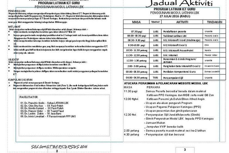 JADUAL  PROGRAM Aturca10