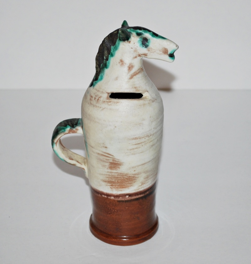 Help With Identifying Mid Century Italian Horse Pottery Vase111