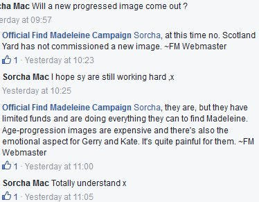 Age progressed image of Madeleine Fm_age10