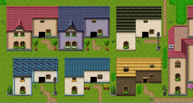 [VX Ace] Tileset de maisons/toits retouchés/ajoutés 0211