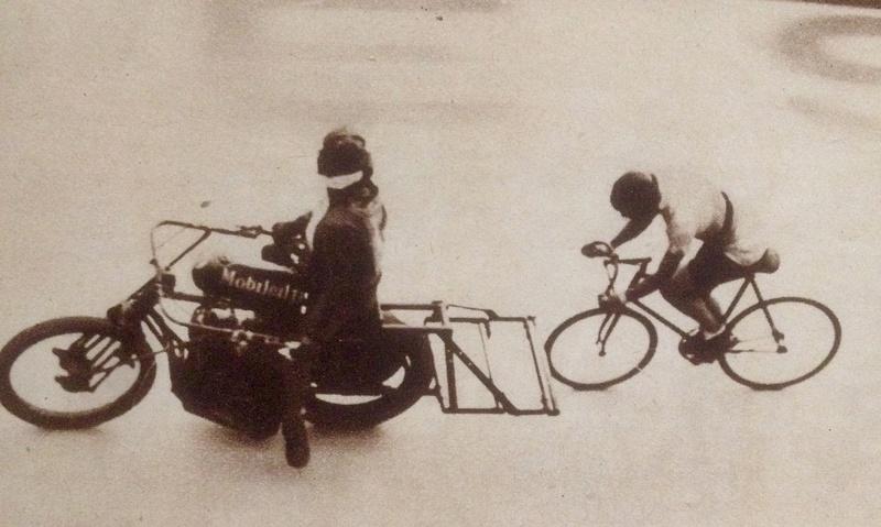 """Piste """"L"""" de Bordeaux pour record de vitesse derrière motocyclette ou Demi-fond Image34"""
