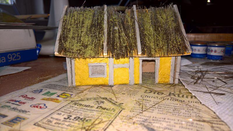 Strohdach für Mittelalter Häuser Dorf_h10