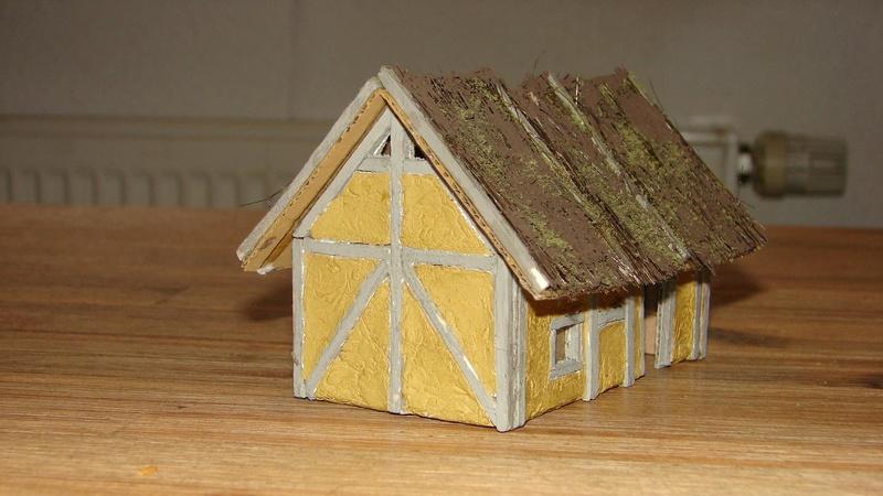 Strohdach für Mittelalter Häuser Dorf_h14