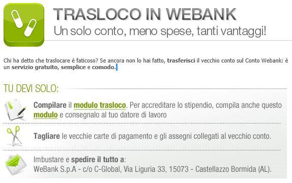 CHIUSURA CONTO CORRENTE con TRASLOCO IN WEBANK Cattur10