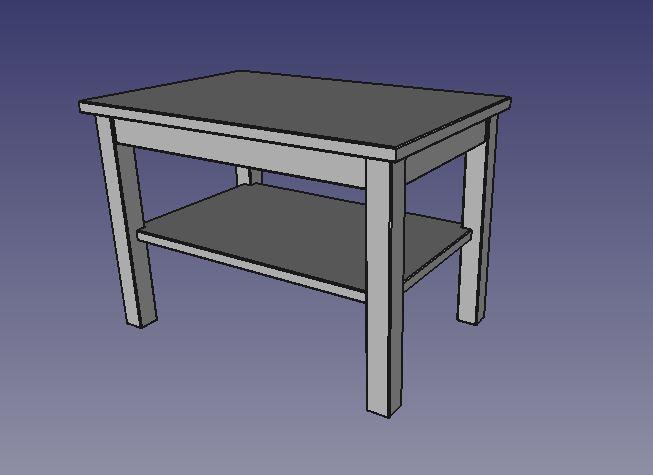 Free cad : modification de pièce dans un assemblage Table_10