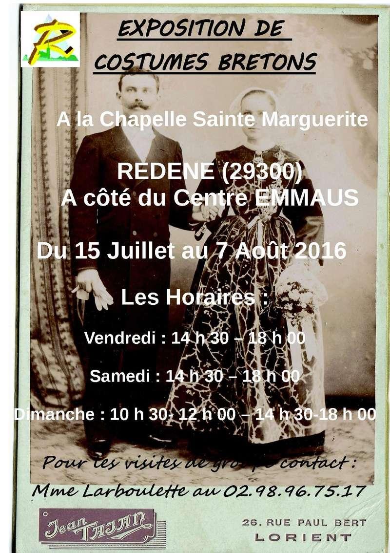 Exposition de costumes à Redene (Finistère sud) Affich14