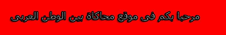 محاكاة بين الوطن العربي