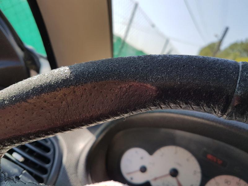Réfection cuir du volant de ma 206 cc 20160744
