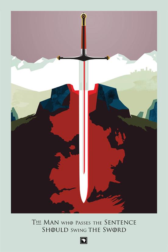 Posters promocionales de las muertes de GoT 1_3-2010