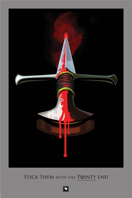 Posters promocionales de las muertes de GoT 1_810