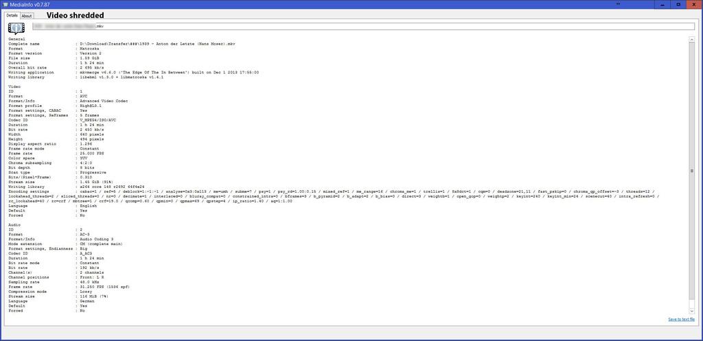 V-MPEG4 video rendering broken Codeci13