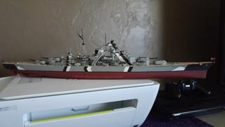 Mes maquettes le cuirasse richelieu et le cuirasse. Bismarck  au 1/400 heller 20160632