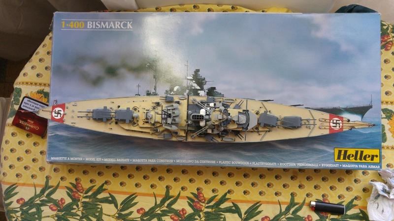Mes maquettes le cuirasse richelieu et le cuirasse. Bismarck  au 1/400 heller 20160812