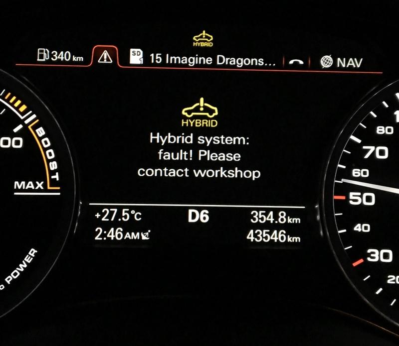Sudden high fuel consumption