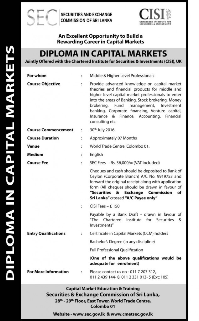 Diploma in Capital Markets Ad-eng13